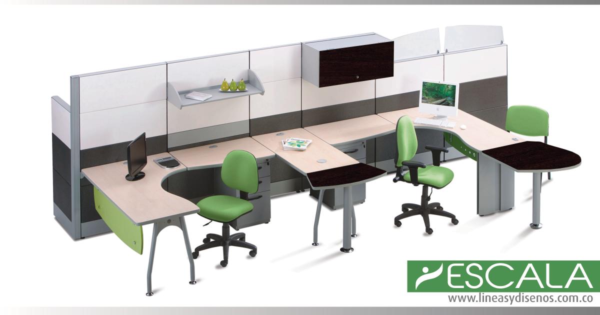 Divisiones modulares para oficina dise o de espacios a for Escritorios modulares para oficina